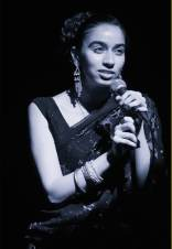 Amrit singing 'Blue Velvet' in 'A Thousand Faces', Mac, Birmingham