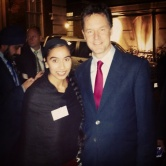 2014: With Deputy Prime Minister Nick Clegg at Diwali Reception