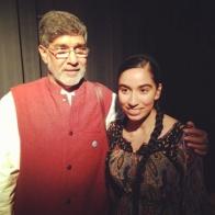 2014: With Kailash Satyrathi, Nobel Peace Prize Winner 2014