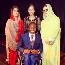 2014: With the inspirational Shazia Ramzan and Kainat Riaz, they were with Malala Yousafzai when a gunman targeted her... And hosting with the amazing Ade Adepitan!