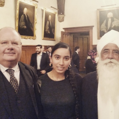 2015: With Secretary of State Eric Pickles & Bhai Sahib Mohinder Singh - Representing UKPHA at Lambeth Palace